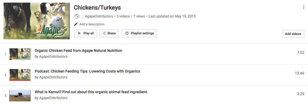 YouTube Chickens and Turkeys
